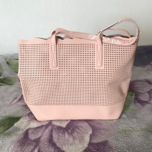 Neiman Marcus State of Escape Perforated Tote Bag